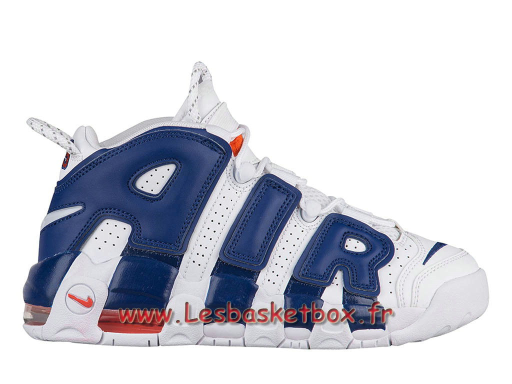 Basket Nike Air More Uptempo Knicks chaussures Officeil Nike pas cher Pour HOmme Bleu
