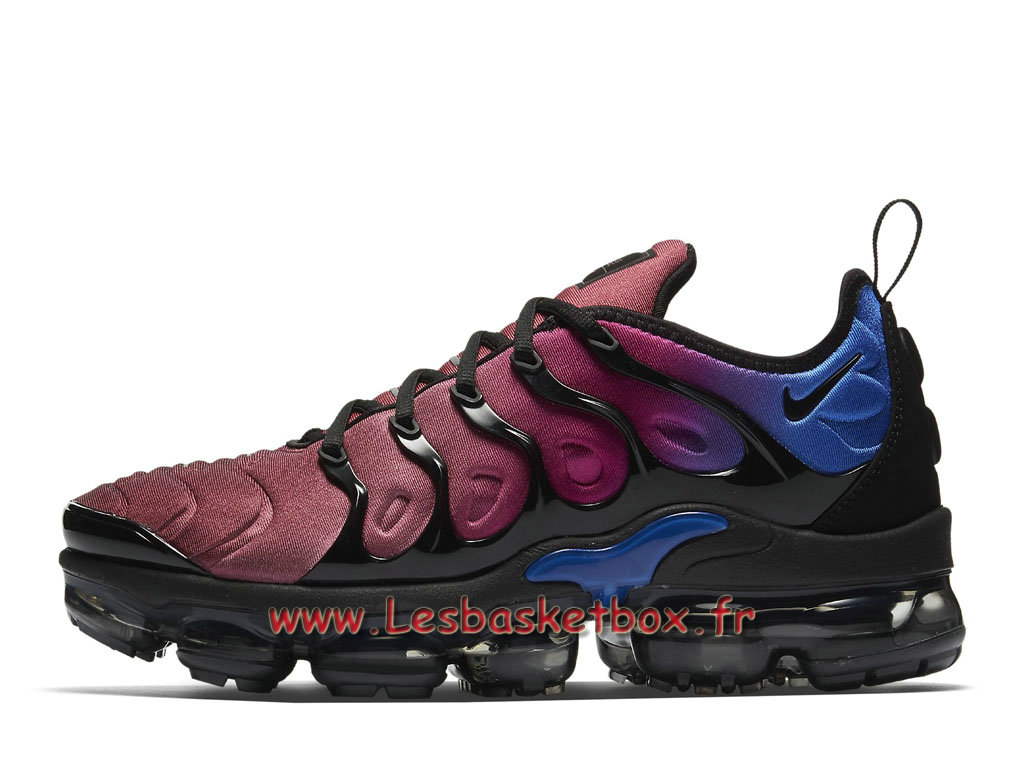 Basket Nike Air VaporMax Plus Black Team Red Violet AO4550_001 Chaussures Officiel Nike tn Pour Homme