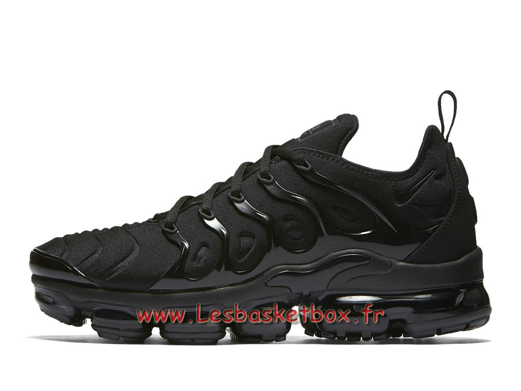 Basket Nike Air VaporMax Plus Triple Black 924453_004 Chaussures Officiel Tn pour Homme
