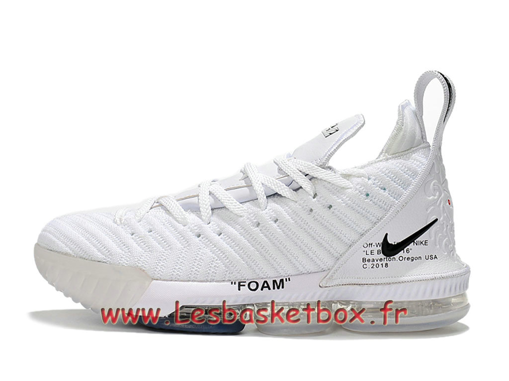 Basket Nike Lebron 16 White Chaussure Nike Pas Cher Pour Homme