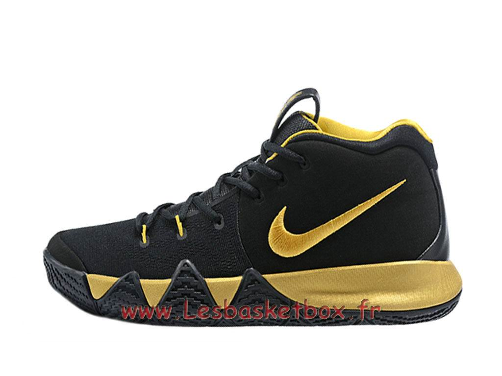 Chaussures Basket NIKE Kyrie 4 Noires Gold Nike Prix Pour Homme