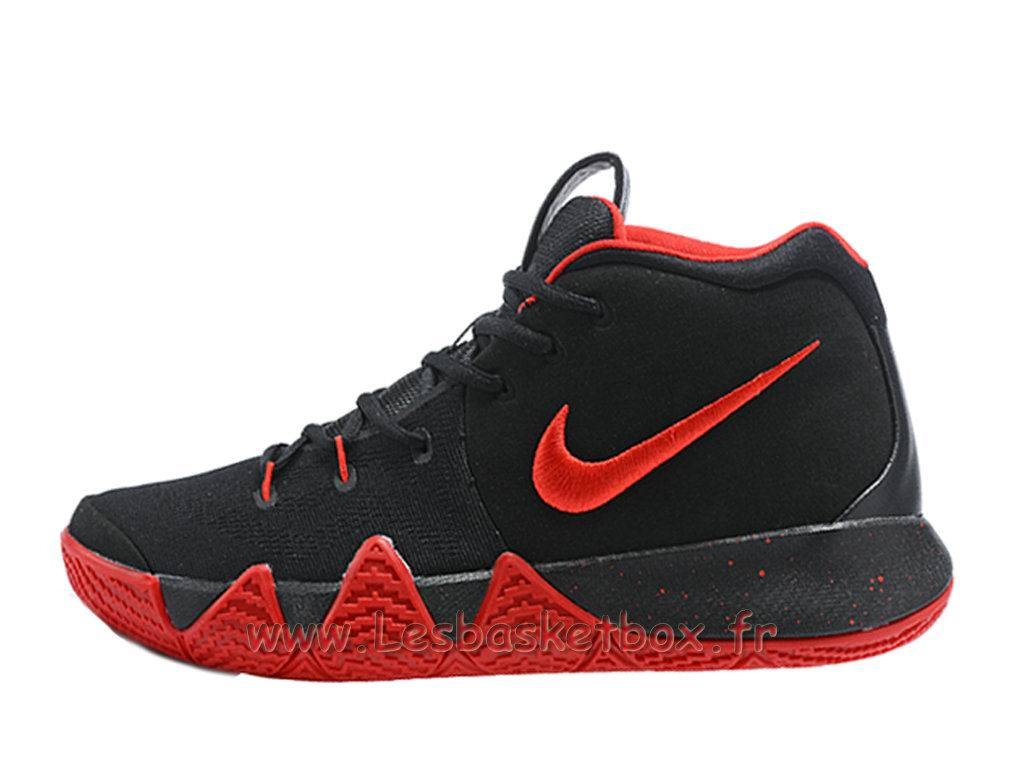 Chaussures Basket NIKE Kyrie 4 Noires/Rouge Officiel Nike Pour Homme