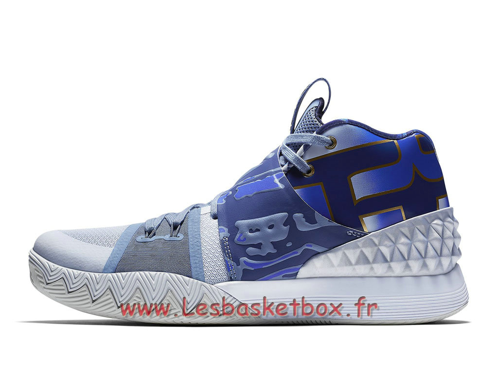 Chaussures Basket Nike What The Kyrie S1 Hybrid Blue Gold Nike Pas cher Pour Homme