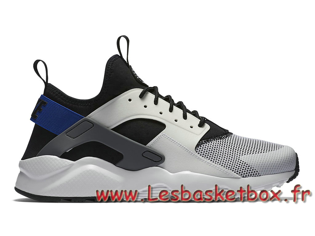 Nike Air Huarache Ultra White Racer Blue 819685_100 Chaussures Nike Urh Pas cher Pour Homme