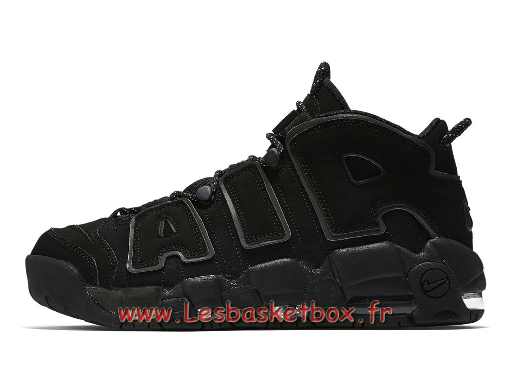 Nike Air More Uptempo Black Reflective 414962-004 Chaussport Nike Basket Pour Homme Noires