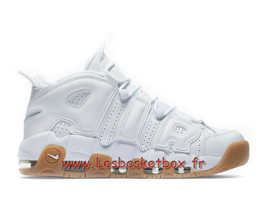 Nike Air More Uptempo White Gum 414962_103 Chaussures Nike Pas cher Pour Homme Blanc