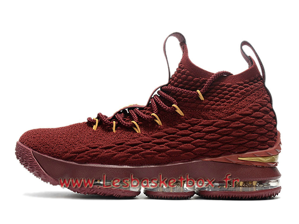 Nike LeBron 15 Deep Rouge 897648_ID2 Chaussures Officiel Release 2018 Pour Homme Rouge
