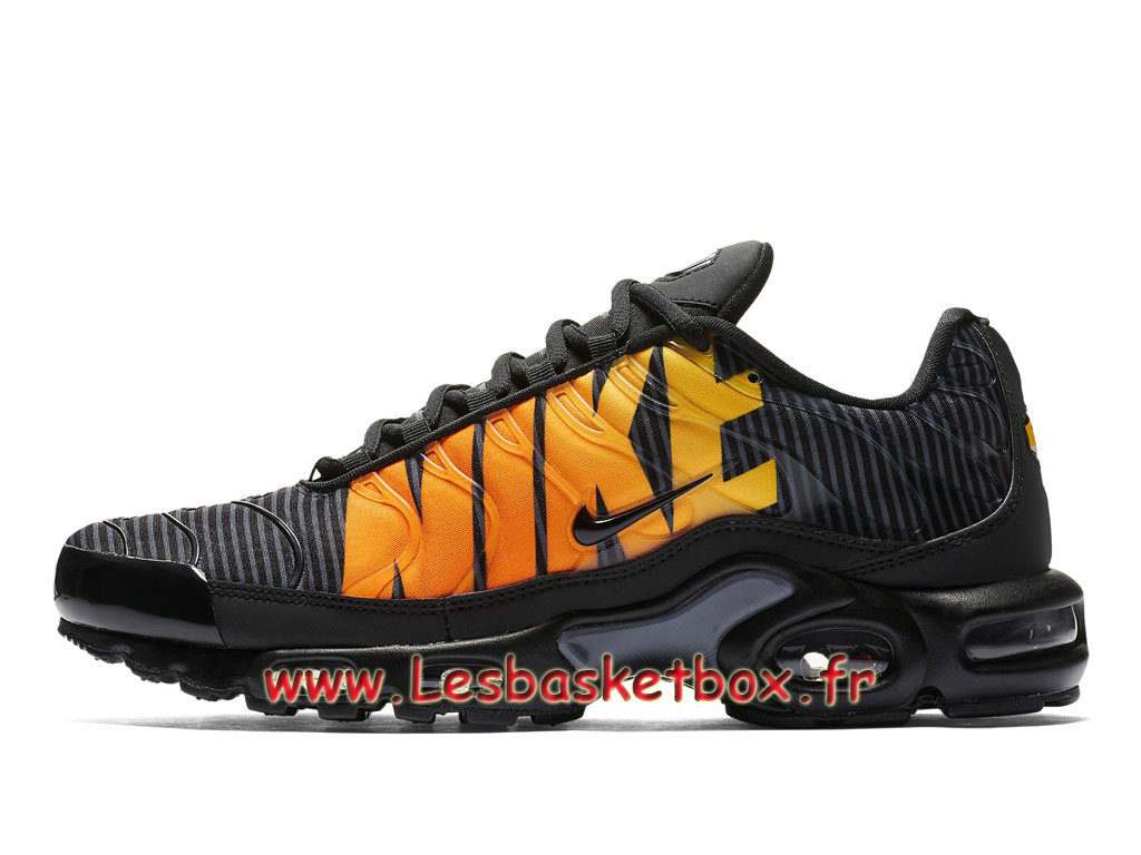 Nike Tn Air Max Plus Se Striped Black Orange AT0040_002 Chaussures Tuned 1 Pour Homme
