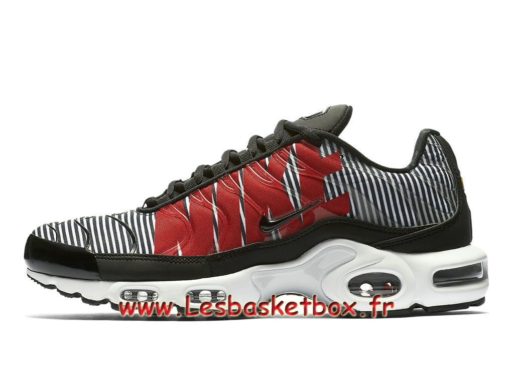Nike TN Air Max Plus Striped Black White AT0040_001 Chaussures Officiel TN Pour Homme