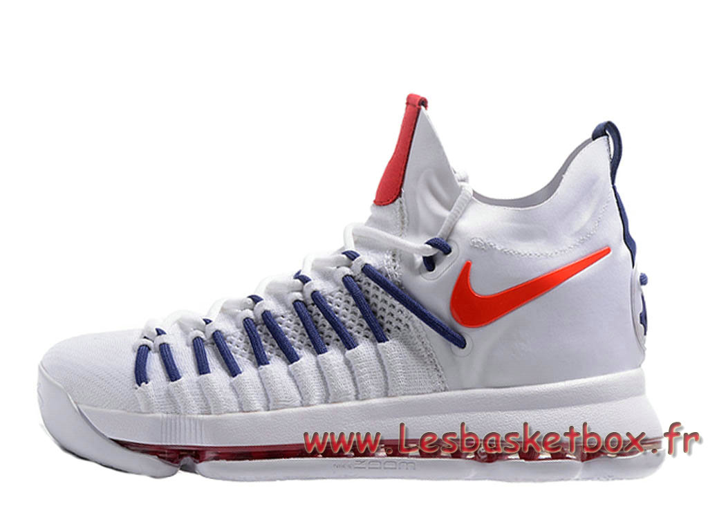 Nike Zoom KD 9 Elite Blance/Rouge 909139-ID5 Chaussures Nike Pas cher pour homme