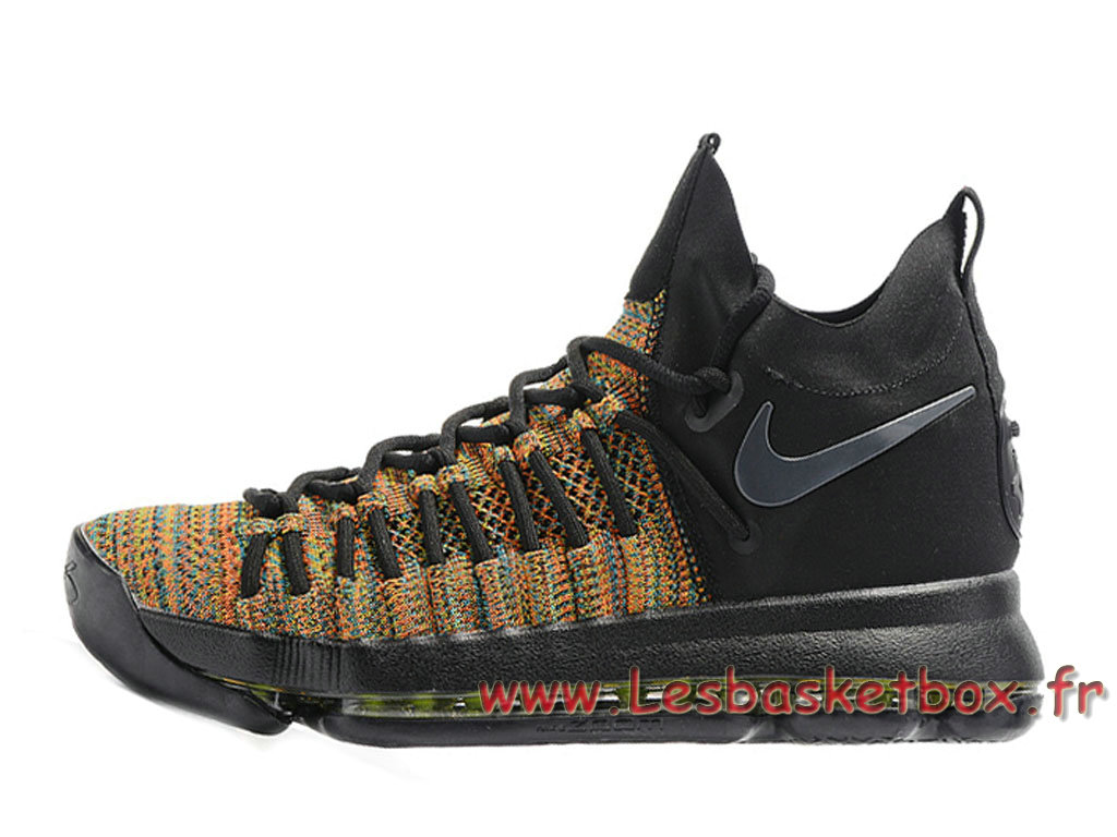 Nike Zoom KD 9 Elite Noires Or 909139-ID16 Chaussures Nike Basket pour homme