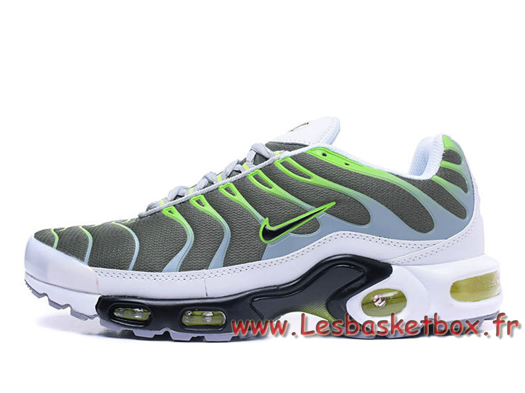 Requin Nike Air Max Plus Grey/Vert Chausport Nike Tn prix Pour Homme Cool Grey