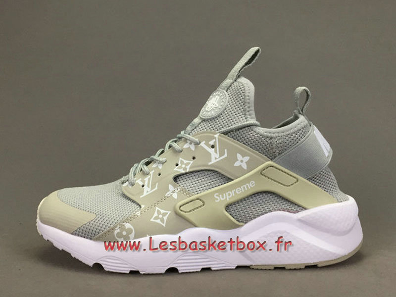 Running X LV Supreme Nike air Huarache Ultra Gris Chaussures Supreme Nike Urh Pour Homme