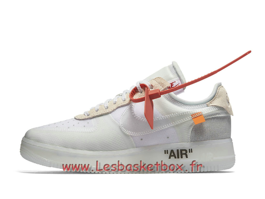 The 10 Off White x Nike Air Force 1 Low The Ten AO4606_100 Chaussures Nike Pas cher Pour Homme Blanc