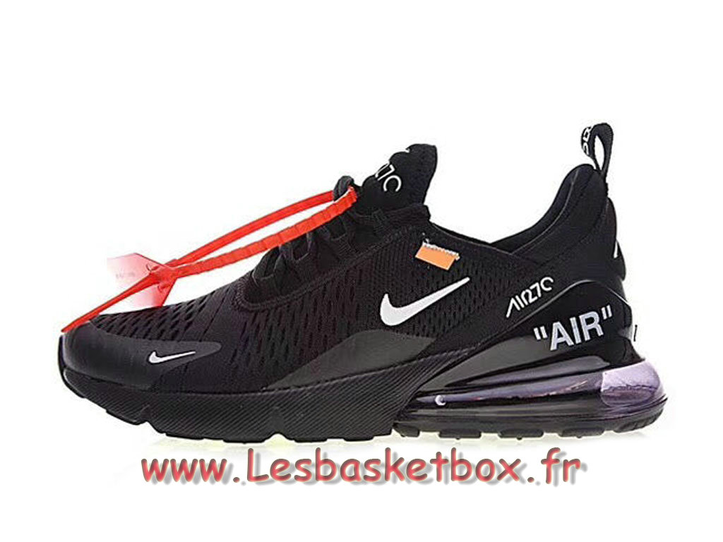 The 10 White Off X Nike Wmns Air Max 270 Black White AH8050_002F Chaussures Nike SportWear Pour Femme/Enfant Blanc